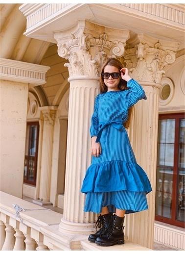 Hilal Akıncı Kids Elbise Mavi